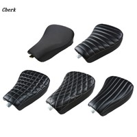 Motorcycle Front Driver Solo Seat Cushion Synthetic Leather Black For Harley Sportster Forty Eight XL1200 883 72 48