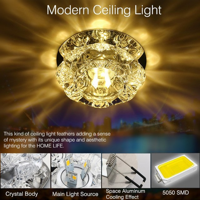 Crystal surface flush mounted led ceiling light art gallery crystal surface flush mounted led ceiling light art gallery decoration balcony porch corridors lamp fixture home mozeypictures Image collections