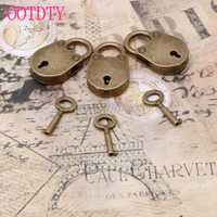 Old Vintage Antique Style Mini Archaize Padlocks Key Lock With key (Lot Of 3) S08 Wholesale&DropShip
