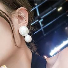 2019 New Big Simulated Pearl Earrings For Women Wedding Party Elegant Long Pendientes Statement Trendy Jewelry Bijoux