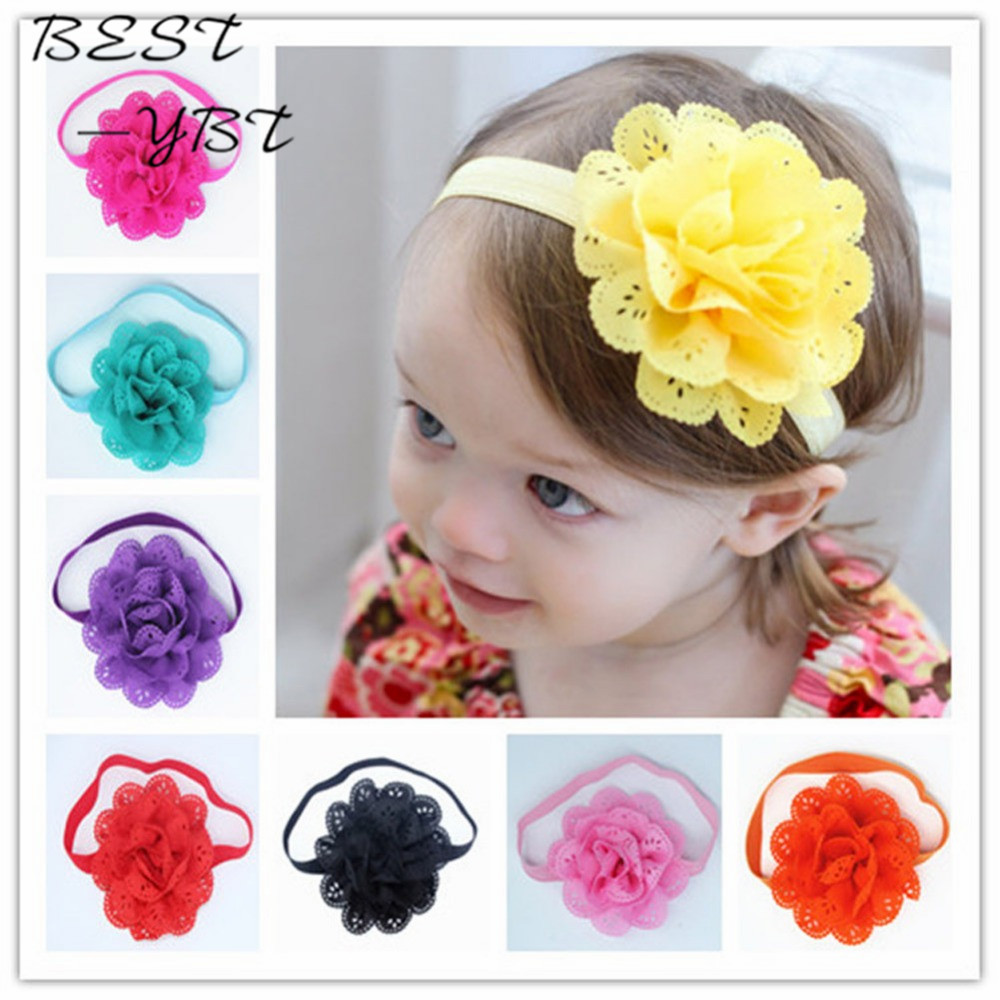 Fancy Kids Headband European American Style Korean Mesh Elastic Children's Hairband Baby Colorful Flower Cute Hair Accessories