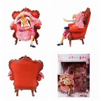 One Piece Donquixote Doflamingo Action Figures Sofa Ver GK Model Toys 23cm
