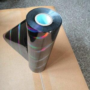 Image 4 - hot stamping foil holographic foil black oblique light beam pattern hot press on paper or plastic transfer foil