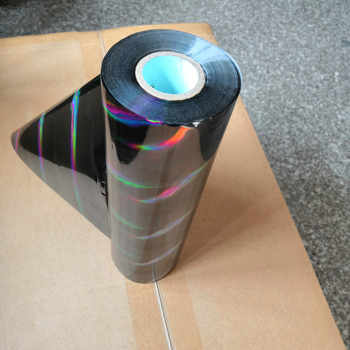 hot stamping foil holographic foil black oblique light beam pattern hot press on paper or plastic transfer foil