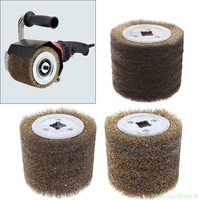 New Arrival Deburring Abrasive Stainless Steel Wire Round Brush Polishing Grind Buffer Wheel Drop Shipping Support
