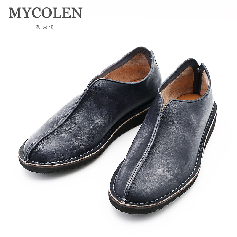 MYCOLEN Leather Slip On Men Loafers 2018 Top Quality Fashion Men Loafers Mens Flats Fashion Brand Male Footwear Calzado HombreMYCOLEN Leather Slip On Men Loafers 2018 Top Quality Fashion Men Loafers Mens Flats Fashion Brand Male Footwear Calzado Hombre