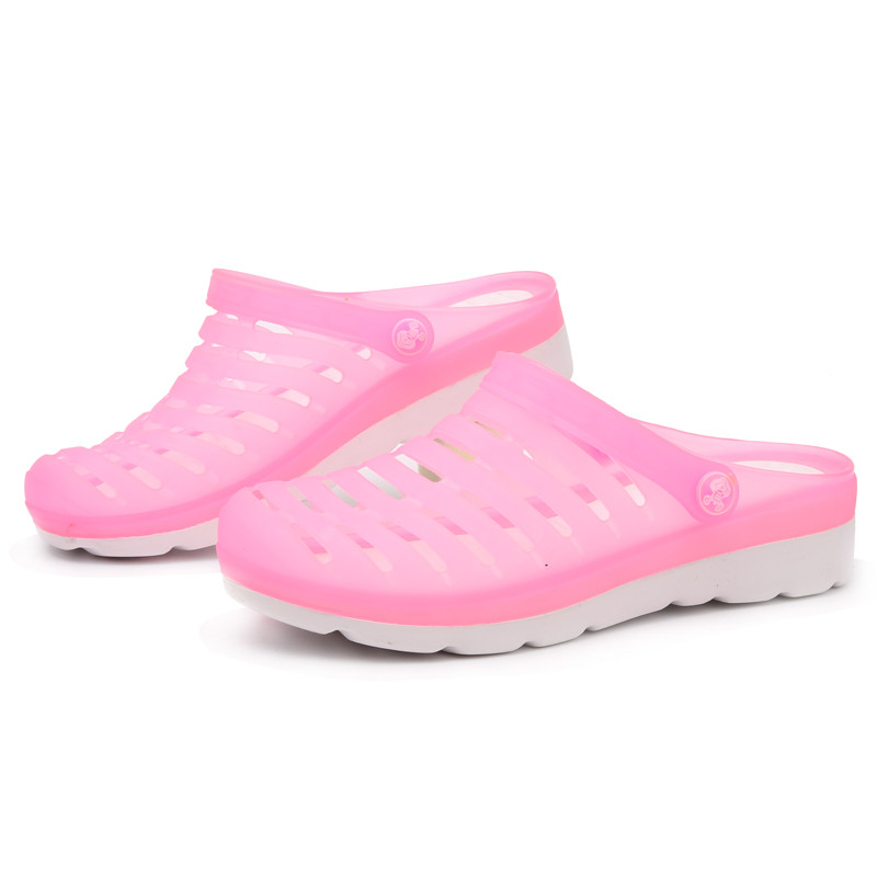 PINSV Summer Shoes Woman Sandals Zuecos Clogs Women Slippers Pink Beach Sandals Women Ladies Shoes Zapatos Mujer swonco women s slippers half shoes candy color breathable female slipper 2018 woman slippers summer sandals ladies beach shoes