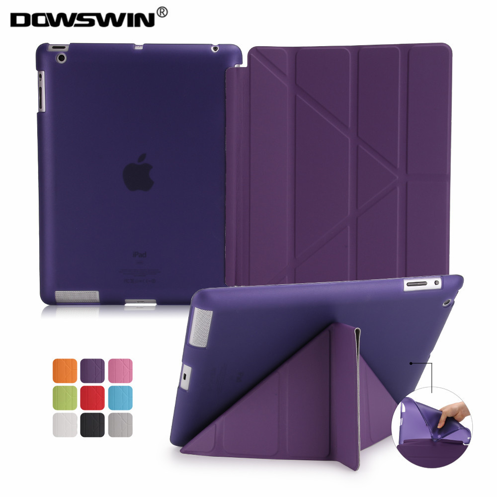 Case for iPad 2 3 4 Soft TPU Back Cover For ipad 3 Case PU Leather Smart Cover For ipad 2 For ipad 4 Case Flip Smart Case Holder