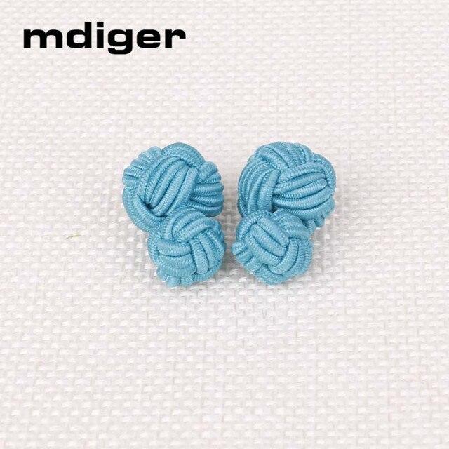 Mdiger Fashion Men\'s Cufflinks Classic Double Rope Ball Knot Shape ...