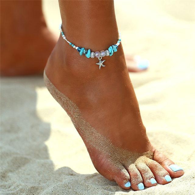 IF YOU Bohimia Sea Turtles Anklet Vintage For Women Summer Beach BOHO Bracelet on Leg Chain 3