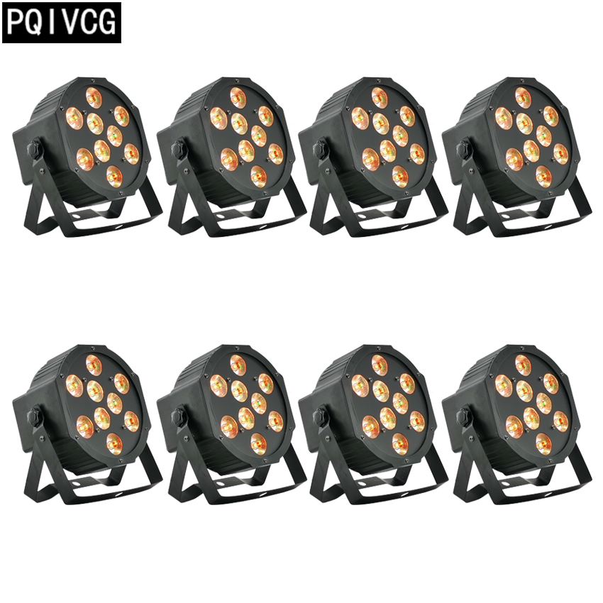 8pcs/ 9x12w led Par lights RGBW 4in1 flat par led dmx512 disco lights professional stage dj equipment8pcs/ 9x12w led Par lights RGBW 4in1 flat par led dmx512 disco lights professional stage dj equipment