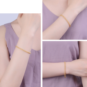 Image 4 - Xxx 24K Puur Goud Armband Real 999 Solid Gold Bangle Elegante Mode Mooie Trendy Classic Party Fine Jewelry Hot verkoop Nieuwe