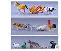 Plástico modelo de simulación de animales de granja de plástico juguetes articulos juguetes Chinos del zodiaco