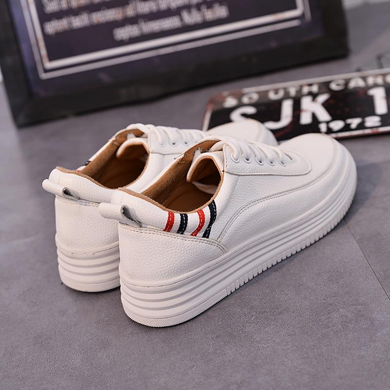 Scarpe Style Piane 41 White Modo Teahoo Voi Il Più Donne Up Bianche 2018 Speciale Rampicanti 42 Per Di Formato Disegno Street Sneakers Women Lace wBBzvYqxR
