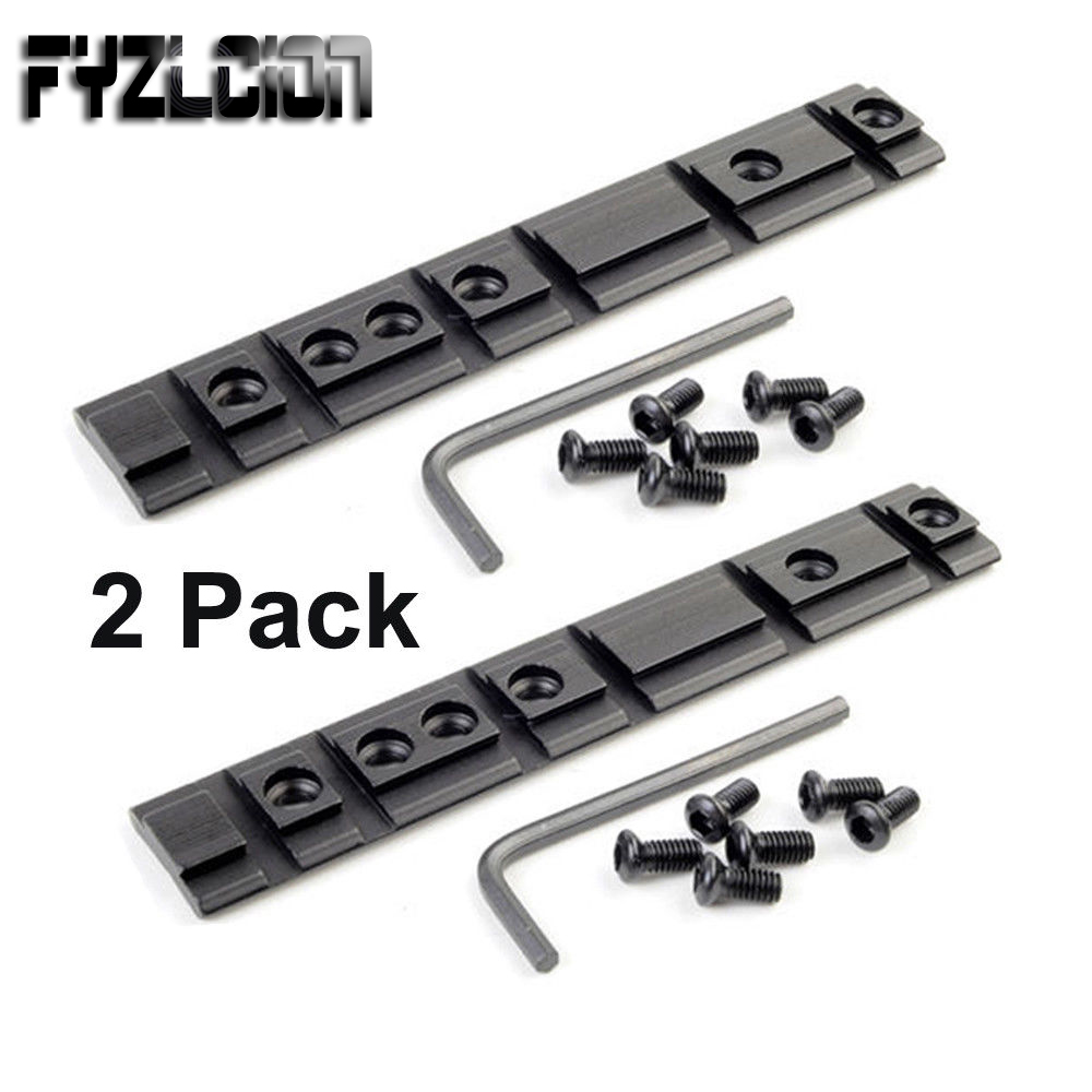 New Tactical Loom Track Plane Base 2PC Ruger 10/22 Rifle Top Weaver Picatinny & Dovetail Rail Base Range Sight