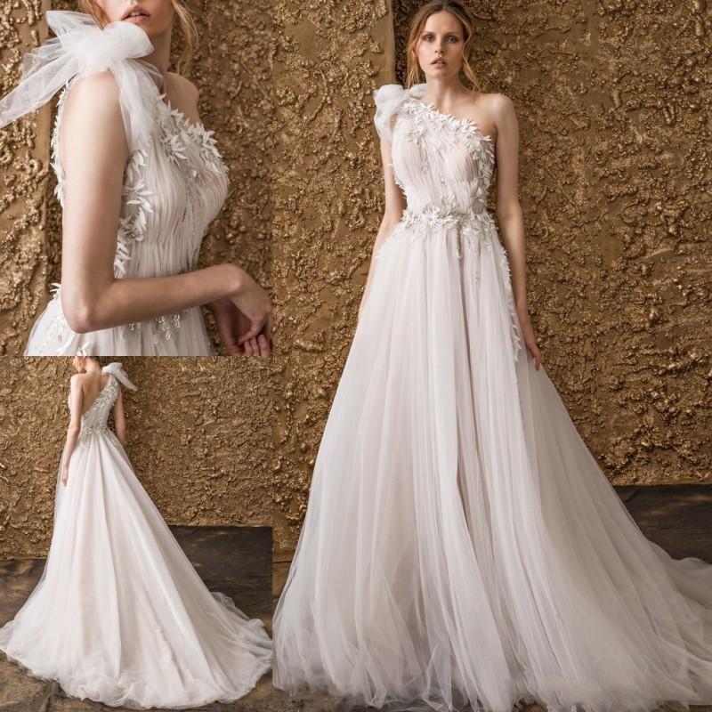A Line Wedding Gown: Aliexpress.com : Buy 2018 Fashion One Shoulder Wedding