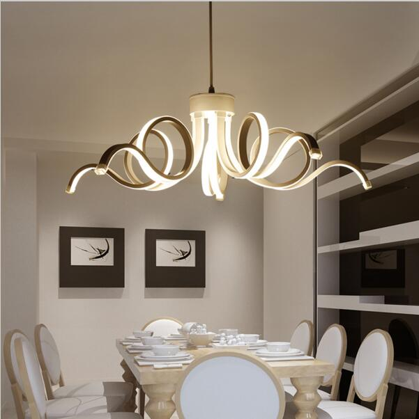 Ceiling Lights & Fans Radient Restaurant Crystal Chandelier Dining Table Rectangular Simple Modern Dining Room Chandeliers Creative Fashion Table Dining Lamps Ceiling Lights