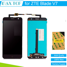 100% tested For ZTE Blade V7 LCD Assembly Display + Touch Screen Panel Replacement parts For ZTE V7 Phone