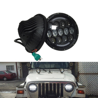 2pcs 105W 7 Inch Round LED Fog Headllamp White Yellow DRL Turn Signal For Jeep Wrangler