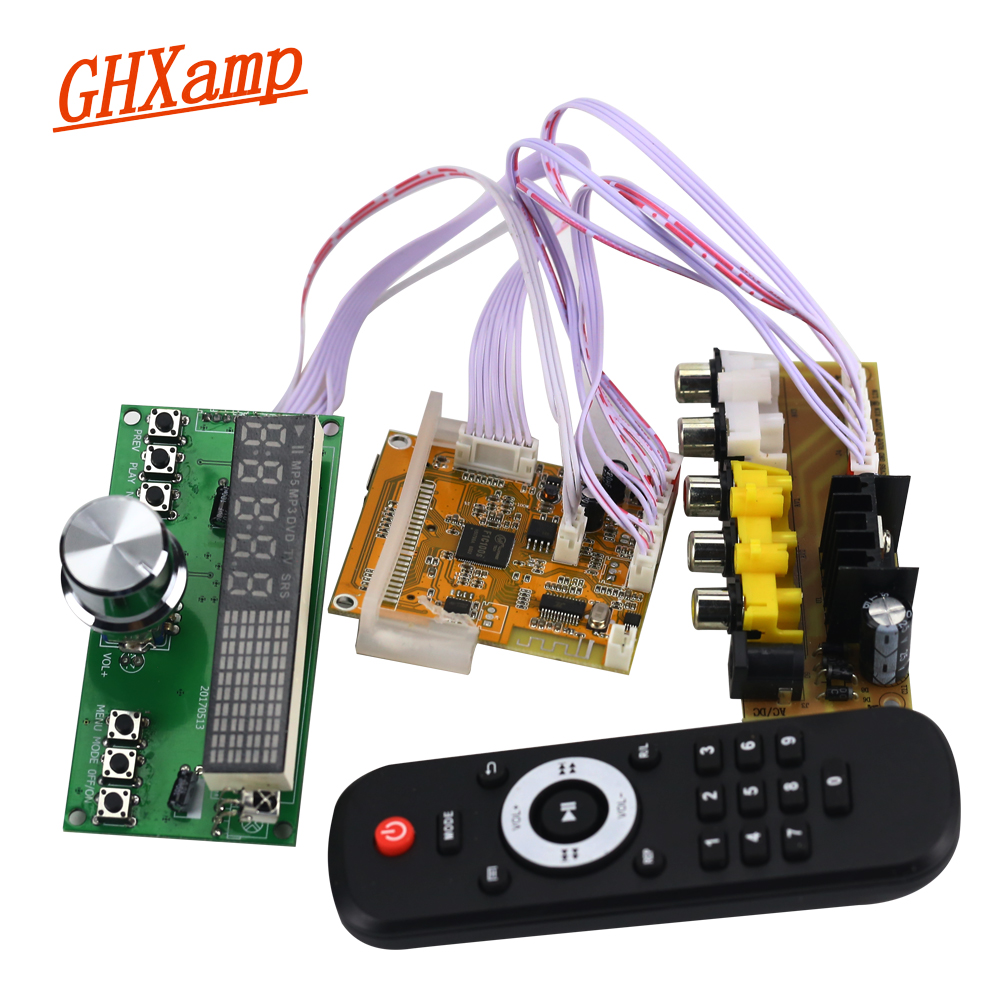 GHXAMP Bluetooth DTS Lossless Decode Audio Board With Dynamic Spectrum FM Radio MP4 MP5 HD Video Decoder APE / WAV / MP3 DC5V amraoui asma radio resource allocation and dynamic spectrum access