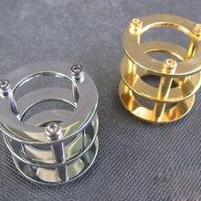 Защитная крышка для вакуумной трубки для 12AX7 12AT7 ECC83 6922 5687 HIFI винтажный аудио усилитель DIY позолоченный и хромированный 1 шт