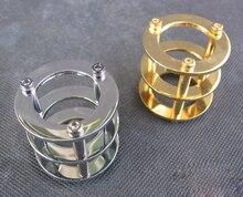 Vakumlu tüp Guard Koruyucu Kapak için 12AX7 12AT7 ECC83 6922 5687 HIFI Vintage Ses AMP DIY Altın ve Krom Kaplama 1 PC