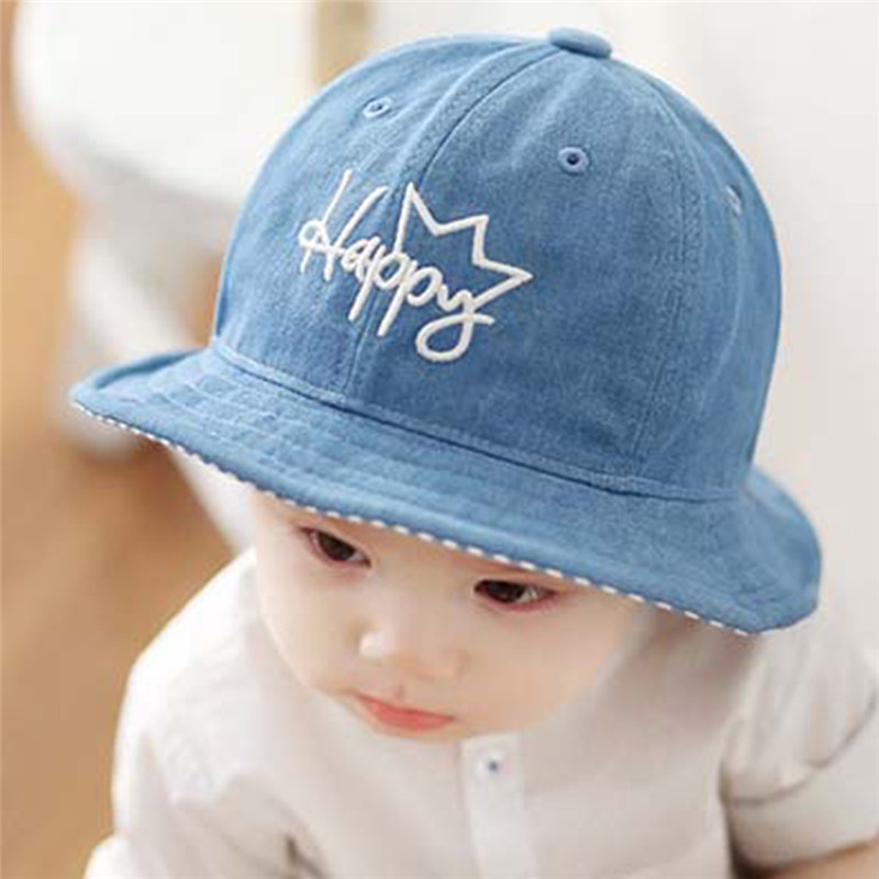 598678588b67 New Fashion Baby Boy Cap Spring style Printing Kids Bucket Hat Outdoor Baby  Boys Summer Cotton Cowboy Infant Cap