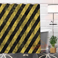 Best Nice Custom Striped Background Shower Curtain Bath Curtain Waterproof Fabric For Bathroom MORE SIZE WJY#91