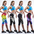 Summer Knee-Length Free Knight Women Harajuku Combat Pants Interest Tactical Capris Punk Leggings Colorful 3D Printed Trouser