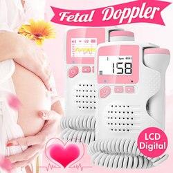 2.0MHz LCD Digital Prenatal Fetal Doppler Heart Sound Monitor Screen Display Tester Detector Pregnant FetalPulse Meter Monitors