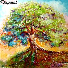 Dispaint Full Square/Round Drill 5D DIY Diamond Painting Oil painting tree Embroidery Cross Stitch 3D Home Decor A10833