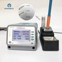 LEISTO akıllı T12 11 dijital kurşunsuz lehimleme İstasyonu havya İpuçları telefon PCB bileşenleri kaynak onarım araçları|Elektrikli Alet Setleri|Aletler -