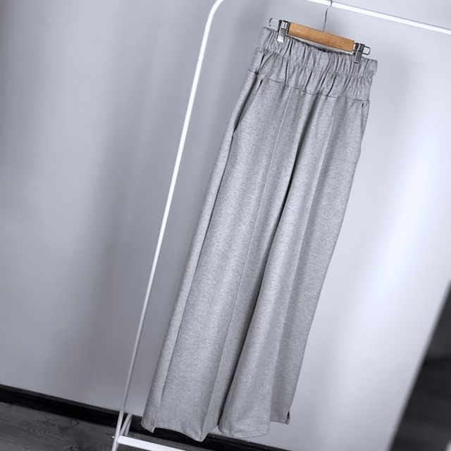 FATIKA Autumn Winter Women Loose Casual Long Pants New 19 Elastic Waist Fashion Thick Wide Leg Pants Stylish Trousers 4