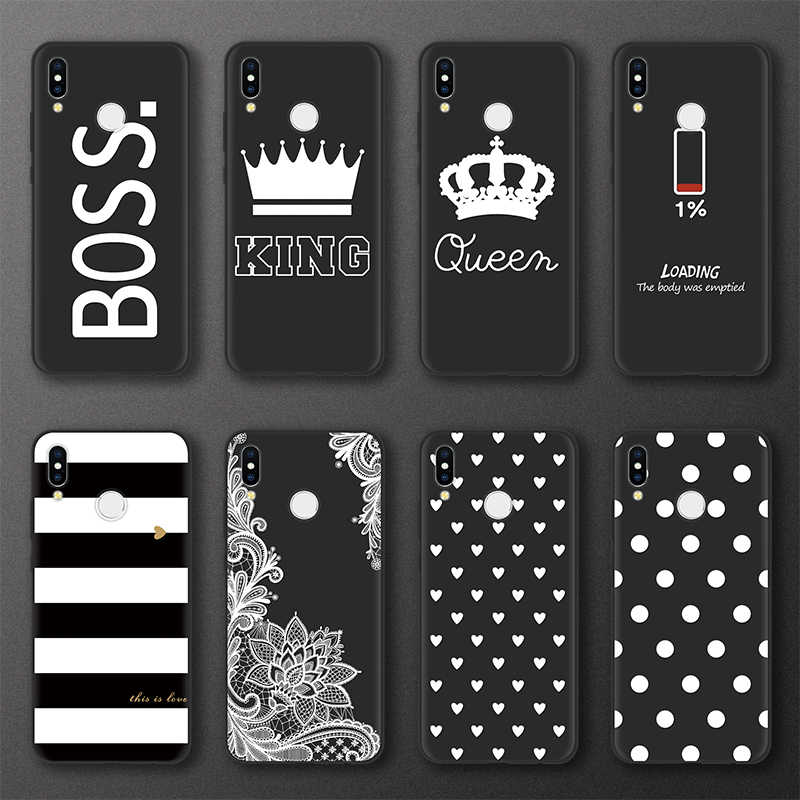 King Queen Cases For Huawei P20 P10 P30 Pro P8 P9 Lite mini 2017 Cover For Huawei Mate 10 20 Pro Lite TPU Case Wave Point Thin