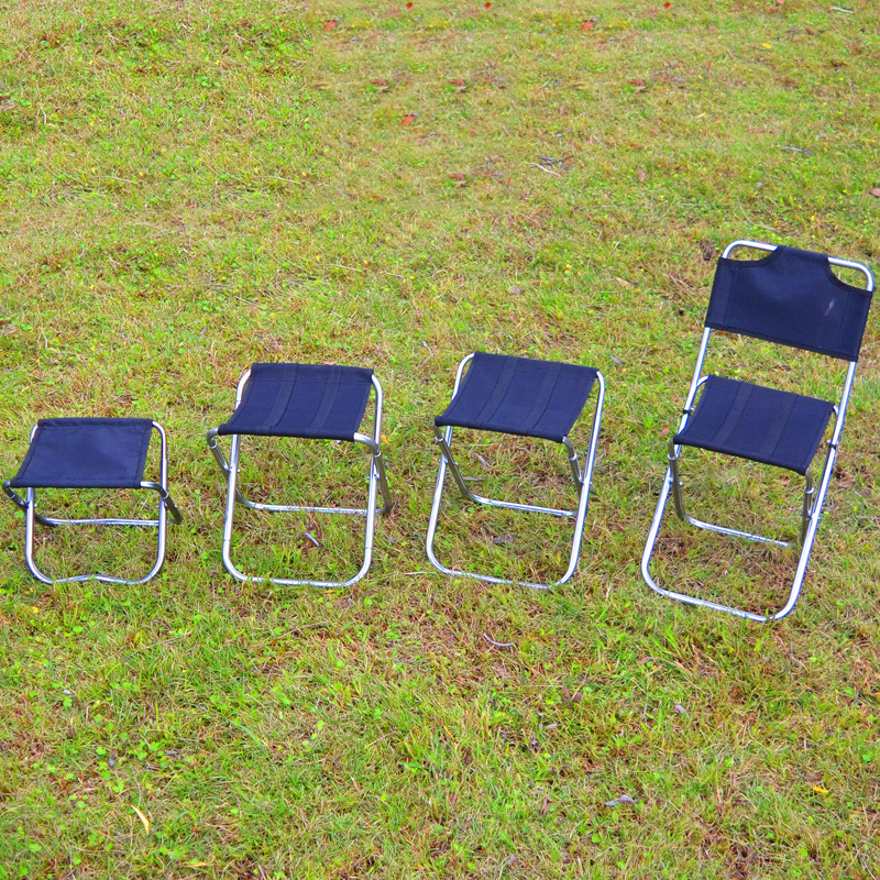 Ultralight Outdoor 6063 Aluminum Alloy Foldable Chair Fishing Seat Camping Picnic BBQ Garden Chair Fishing Square Stool