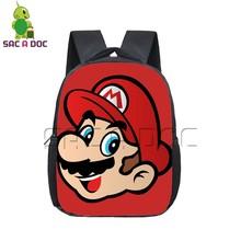 Funny Cartoon Super Mario Backpack Children School Bags Boys Girls Students Primary Kindergarten Backpack Preschool Bookbags