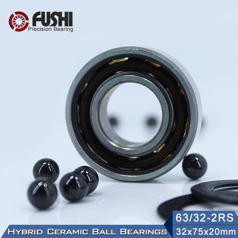63/32 Hybrid Ceramic Bearing 32*75*20 mm ( 1PC ) Race Bike Front Rear Wheel 63 32 2RS LUU Hybrids Si3N4 Ball Bearings 63/32RS велосипед cube reaction hybrid race 500 29 2018