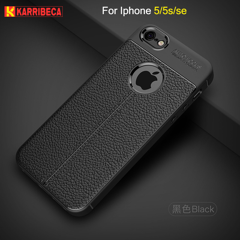 Litchi strips silicone case for iphone 5 5s funda hoesje skal lychee  leather pattern tpu cover 17e0d739dbee1