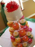 Hot Salet! groothandel Ronde 5 Tier acryl clear nieuwe stijl afneembare cupcake wedding cake stands bruiloft decoratie