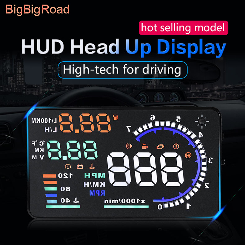 все цены на BigBigRoad Car HUD Head Up Display For Fiat Scudo 500 Punto Stilo Bravo Linea Freemont Ducato Brava Ritmo Windscreen Projector онлайн