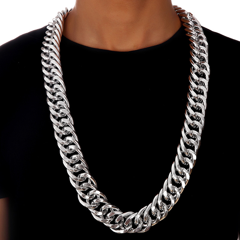 Heavy yellowwhite gold gf double curb chain mens huge necklace 26mm heavy yellowwhite gold gf double curb chain mens huge necklace 26mm wide thick in chain necklaces from jewelry accessories on aliexpress alibaba aloadofball Gallery