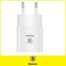 Baseus Универсальный ЕС Plug Путешествие Стены USB Зарядное устройство Смарт-Мобильный Телефон Зарядное Устройство Для iPhone Samsung Xiaomi Tablet