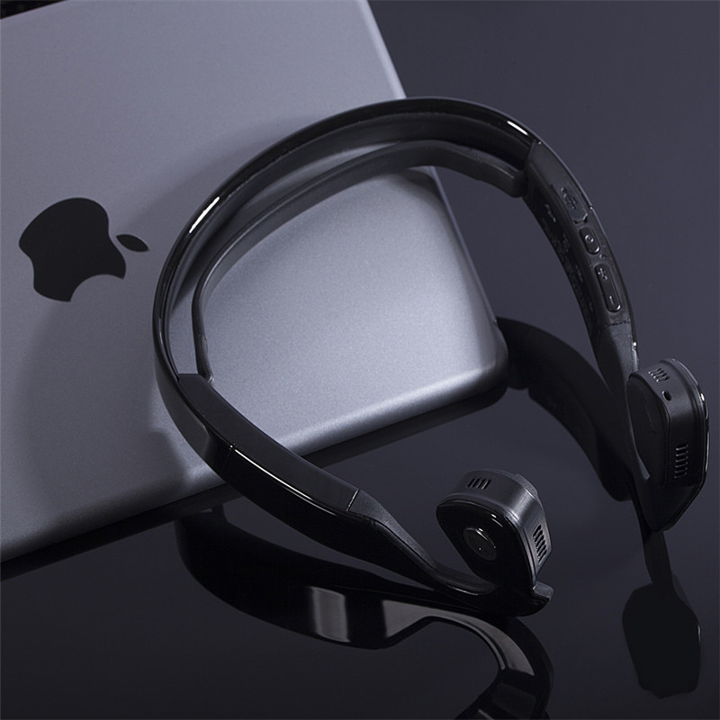 Wireless Bone Conduction Headphones Bluetooth 4.0 Headset Earphone Stereo Music Mic Hearing Aids Ear Release For Mobile Phone