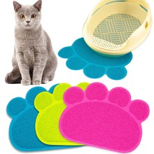 Puppy Kitty Dish Feeding Bowl Placemat Paw Print Mat Dog Cat Litter Tray Tidy Easy Cleaning Sleeping Pad Cama 3 Colors