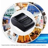 ZJ 5802 LD Portable Mini Printer 58mm Bluetooth 4.0 Android Cash Register POS Receipt Printers Ticket Thermal Printer