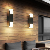 BEIAIDI Outdoor Led Wall Light With Motion Sensor Waterproof Acrylic Garden Aisle Porch Light Villa Hotel Exterior Wall Sconces