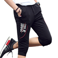 Hot Fashion Letter Designer Capri Pants Men Casual Slim Fit Youths Mens  Trousers Pantalon Homme (Asian Size)