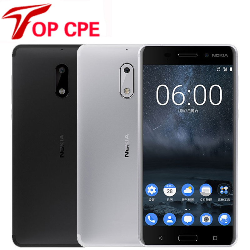 Nokia Snapdragon 430 Original 6 LTE 32gb 4gb Quick Charge 3.0 Octa Core Fingerprint Recognition title=