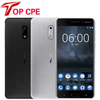 "Original Nokia 6 LTE 4G Mobile Phone 4G RAM 1080P Dual Sim Android 7.0 Octa Core 5.5"" 16.0 MP Fingerprint Refurbished Smartphone"