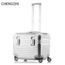 Camera-Box Suitcase Wheeled-Case Trolley Rolling-Luggage Aluminum-Frame Travel Women